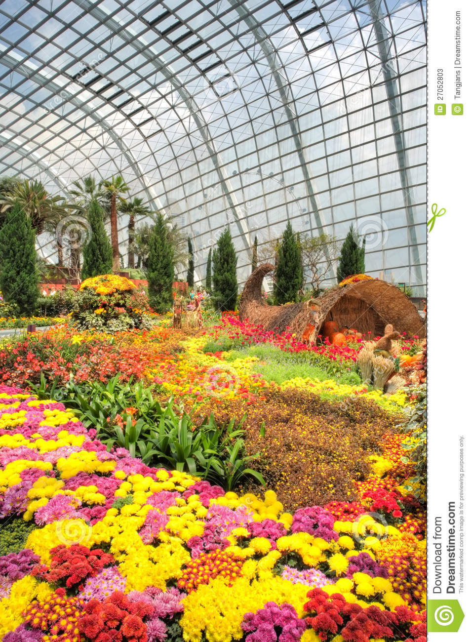 Gardens By The Bay Flower Dome Autumn Harvest Editorial Stock Photo