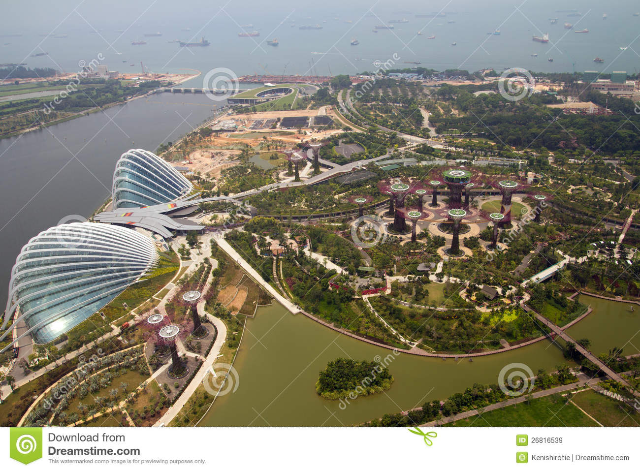 Gardens By The Bay, Singapore Stock Image - Image of conservatories ...