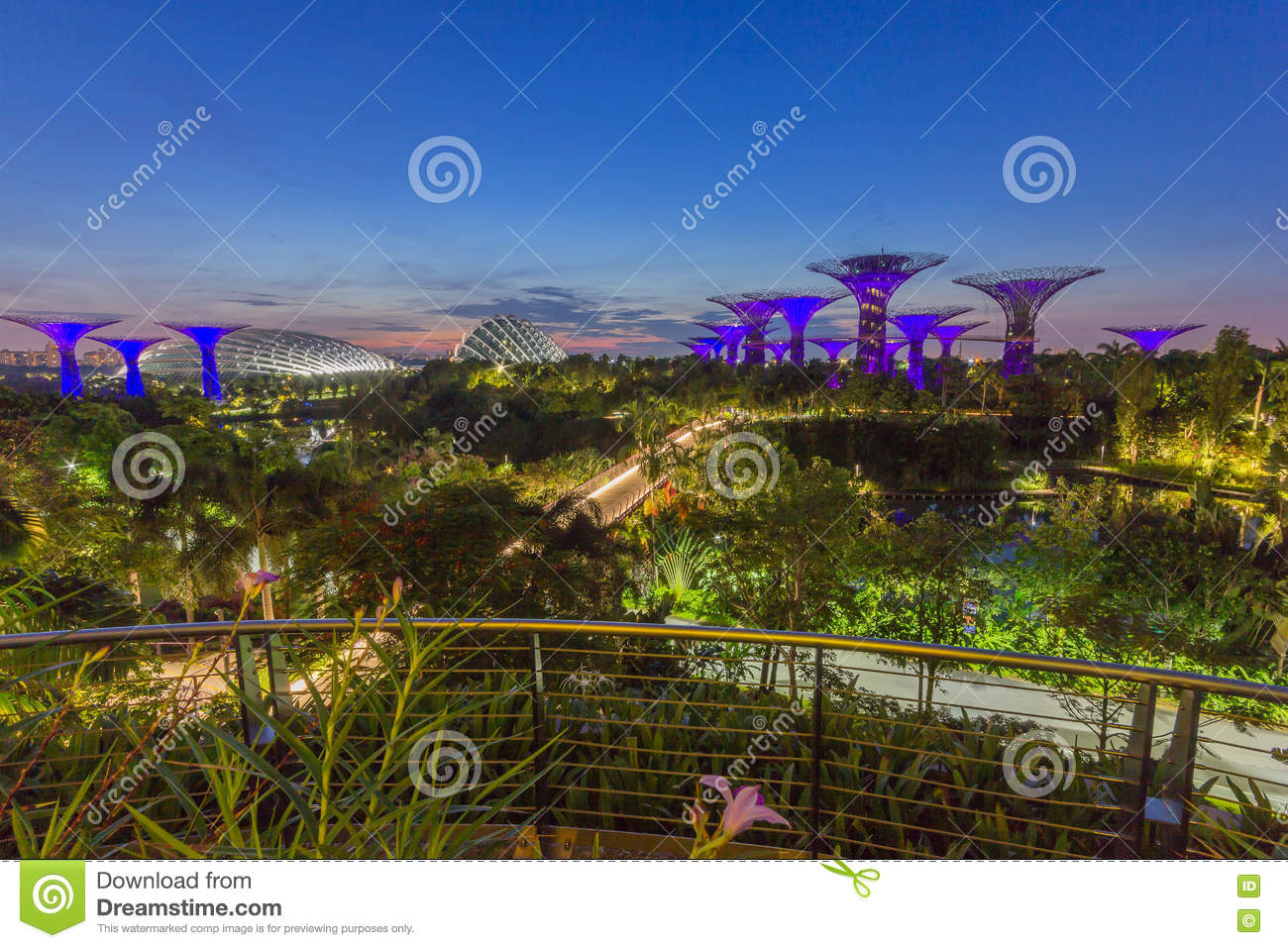 Gardens By The Bay, Singapore Stock Image - Image of garden ...
