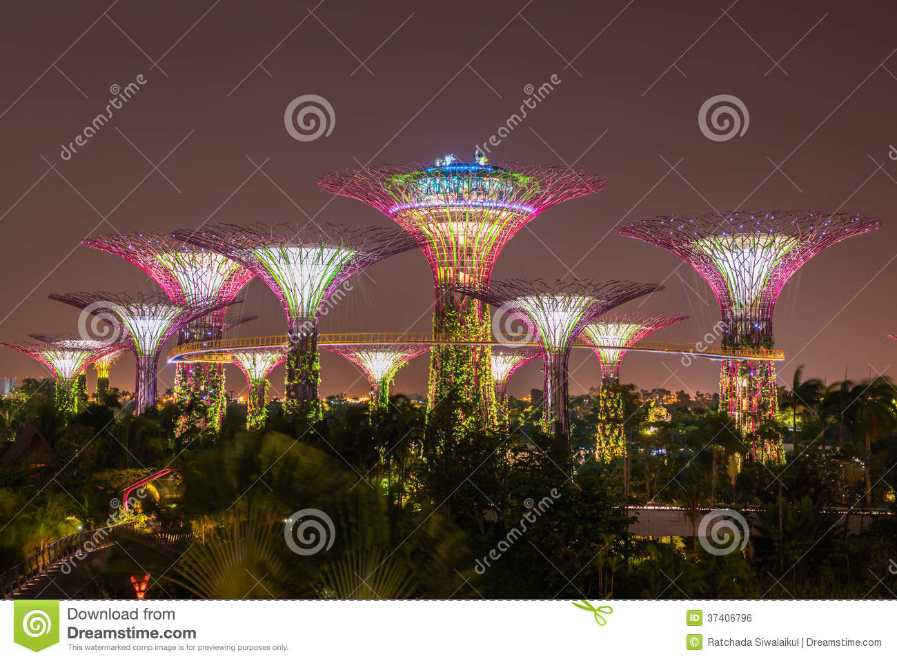 Garden By The Bay Mrt gardenthe bay mrt station singaporeoct 6 day view of supertree