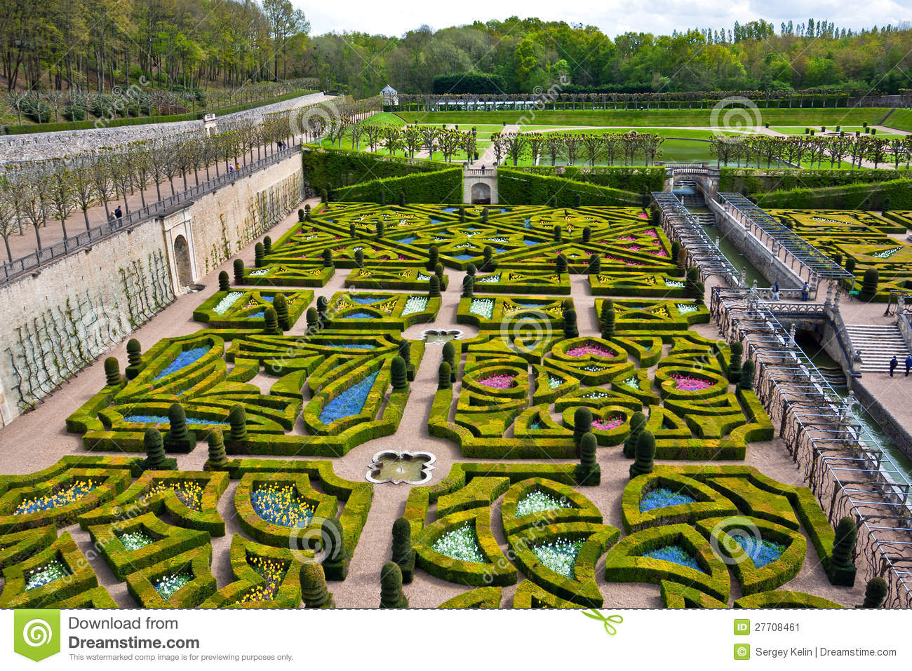 Gardens Of The Chateau De Villandry France Stock Image