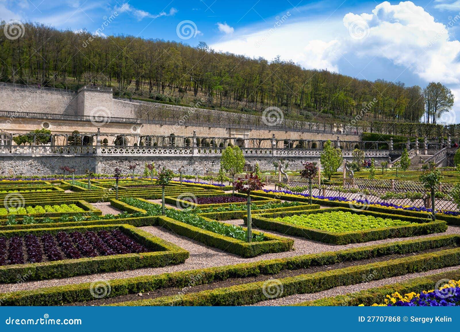 Gardens chateau de villandry frankrijk royalty vrije stock foto 39 s afbeelding 27707868 - Tuin decoratie buitenkant ...