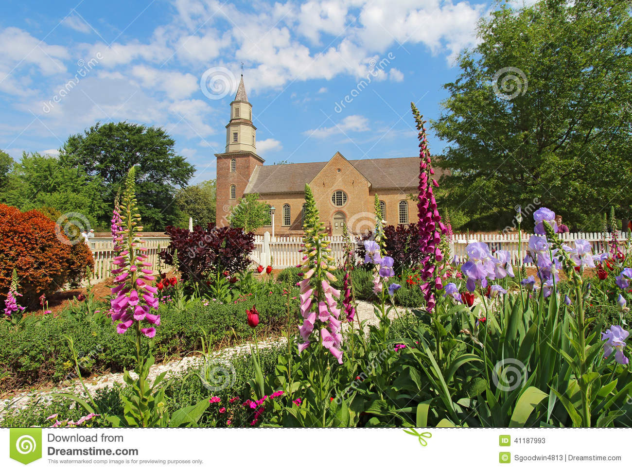 Editorial Stock Photo. Download Gardens At Colonial Williamsburg ...
