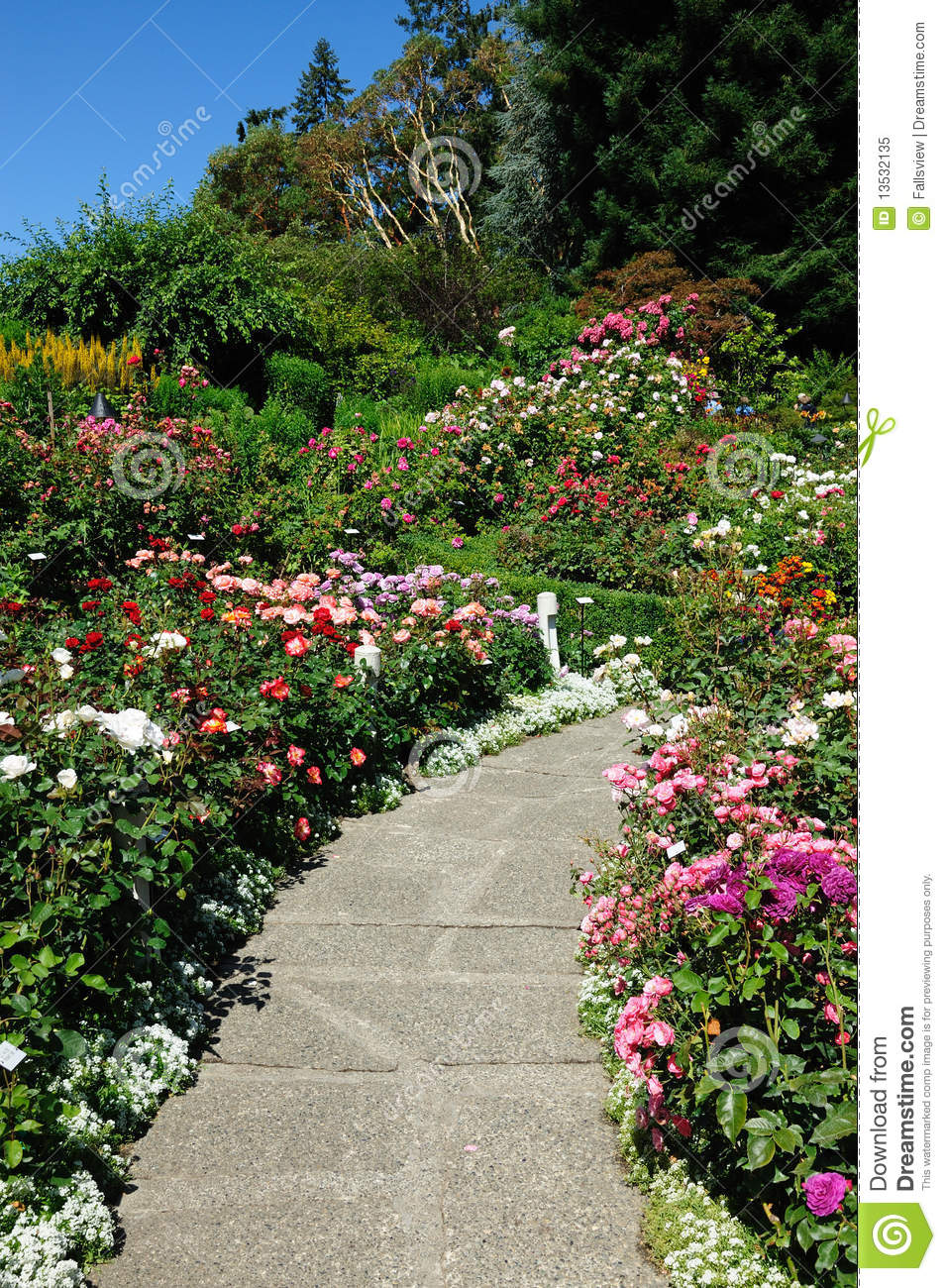 Gardens path royalty free stock photo image 13532135 for Gardening tools victoria bc
