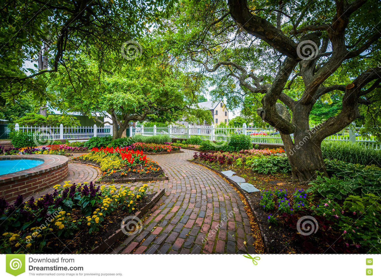 Gardens At Prescott Park, In Portsmouth, New Hampshire ...
