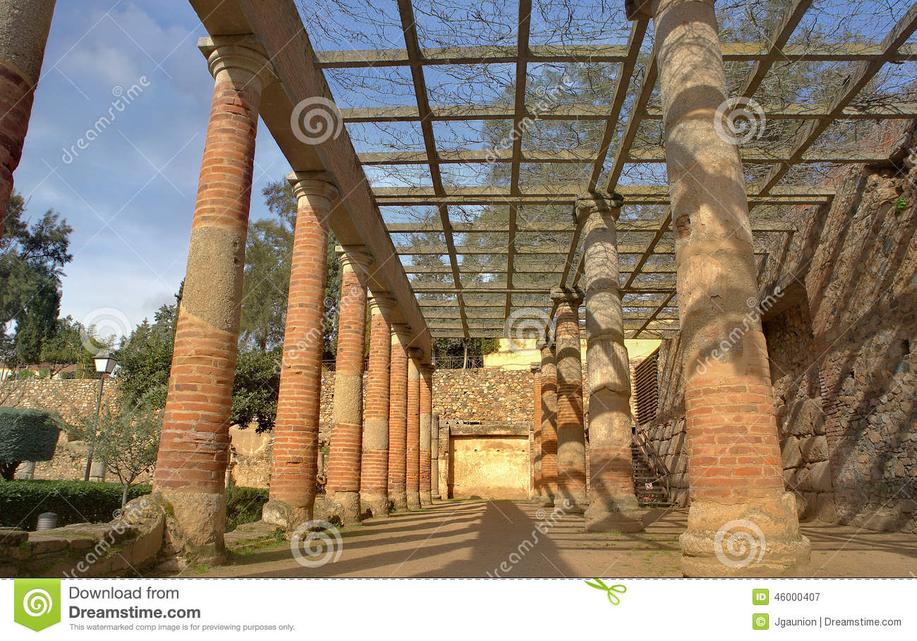 Gardens Of The Roman Theater In Merida Stock Image - Image of ...