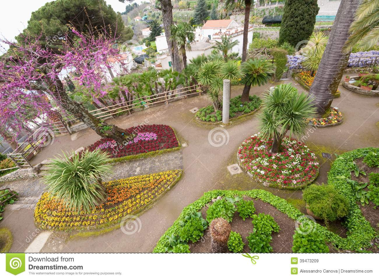 Gardens of villa rufolo ravello amalfi coast stock photo for Jardin villa rufolo
