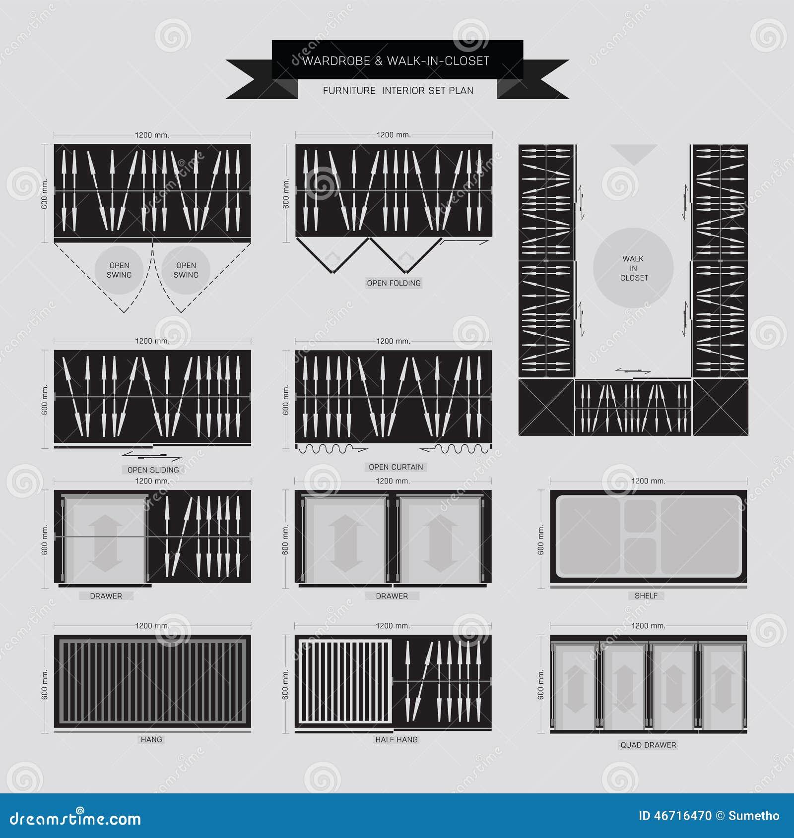 Garderobe und Weg in der Wandschrank Möbel-Ikone
