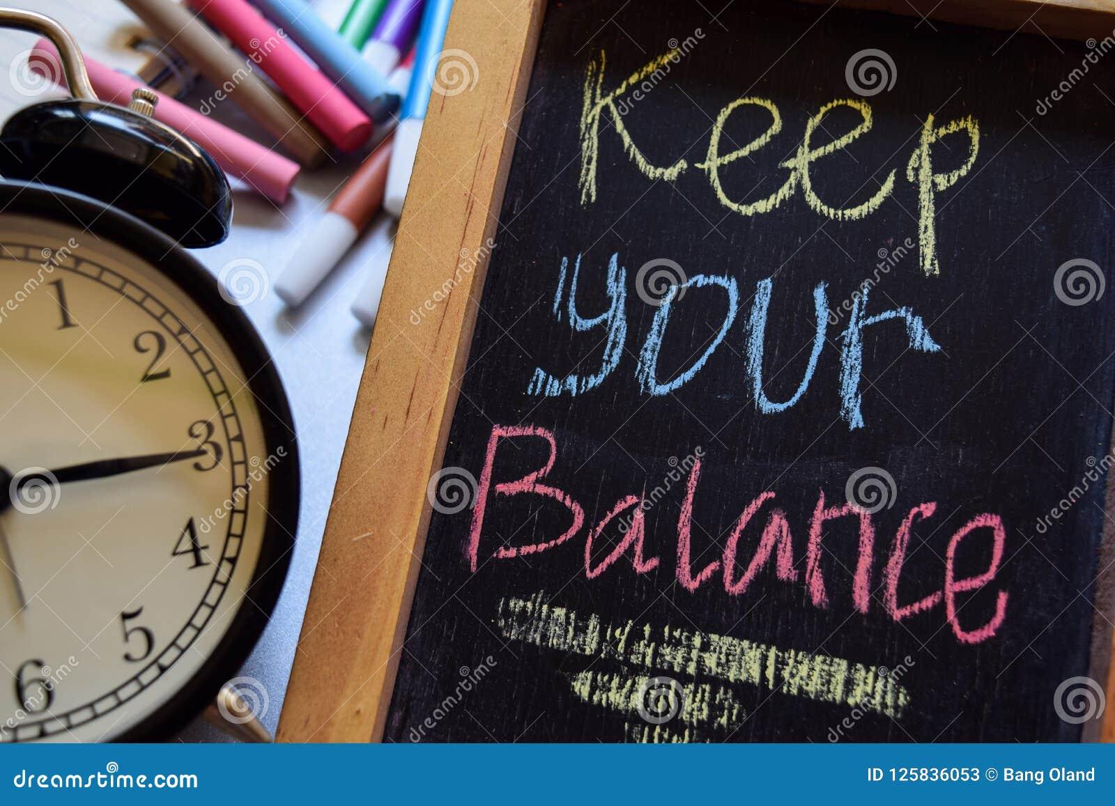 Gardez votre équilibre