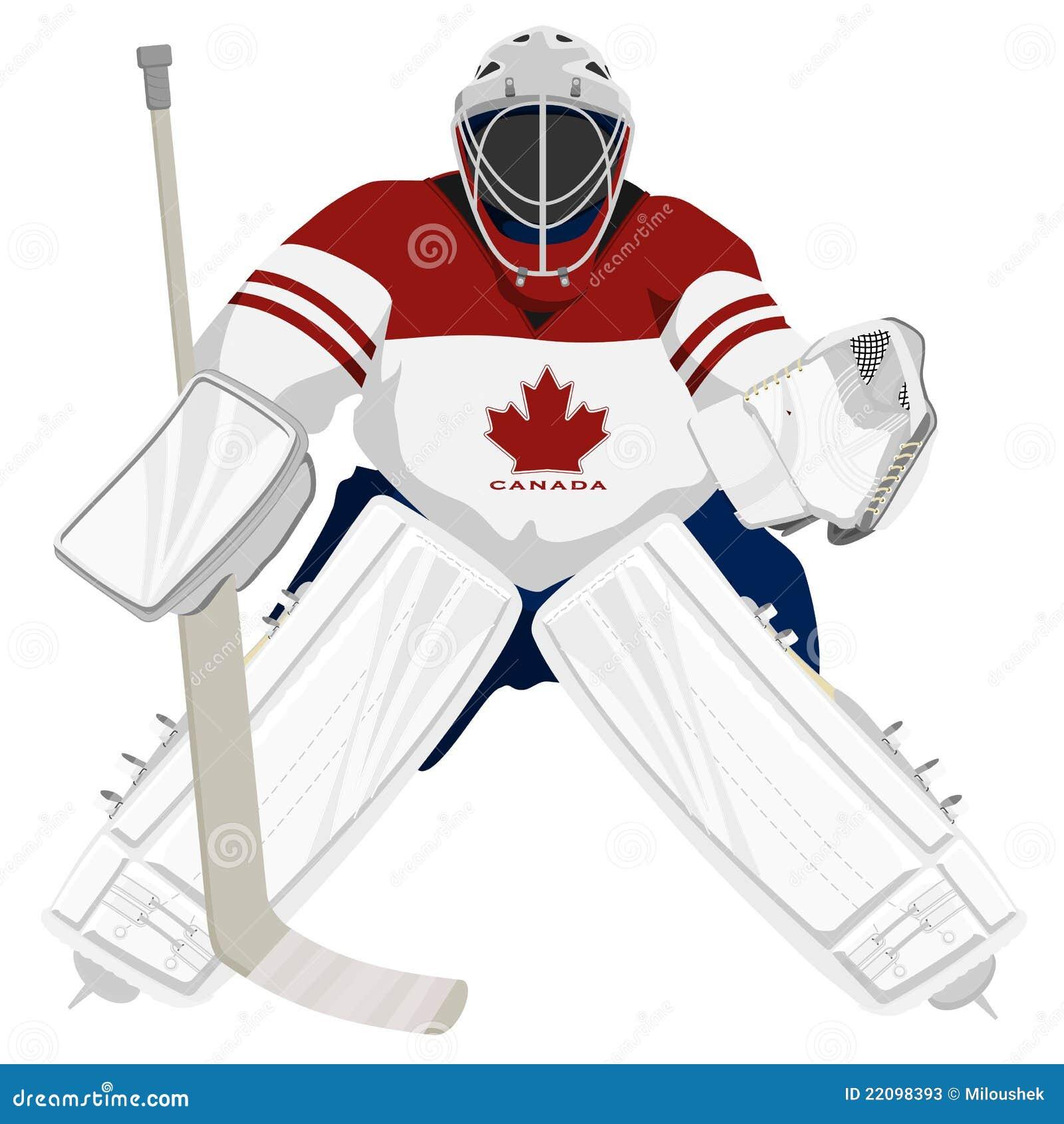 Gardien de but d 39 hockey du canada d 39 quipe illustration de - Gardien de but dessin ...
