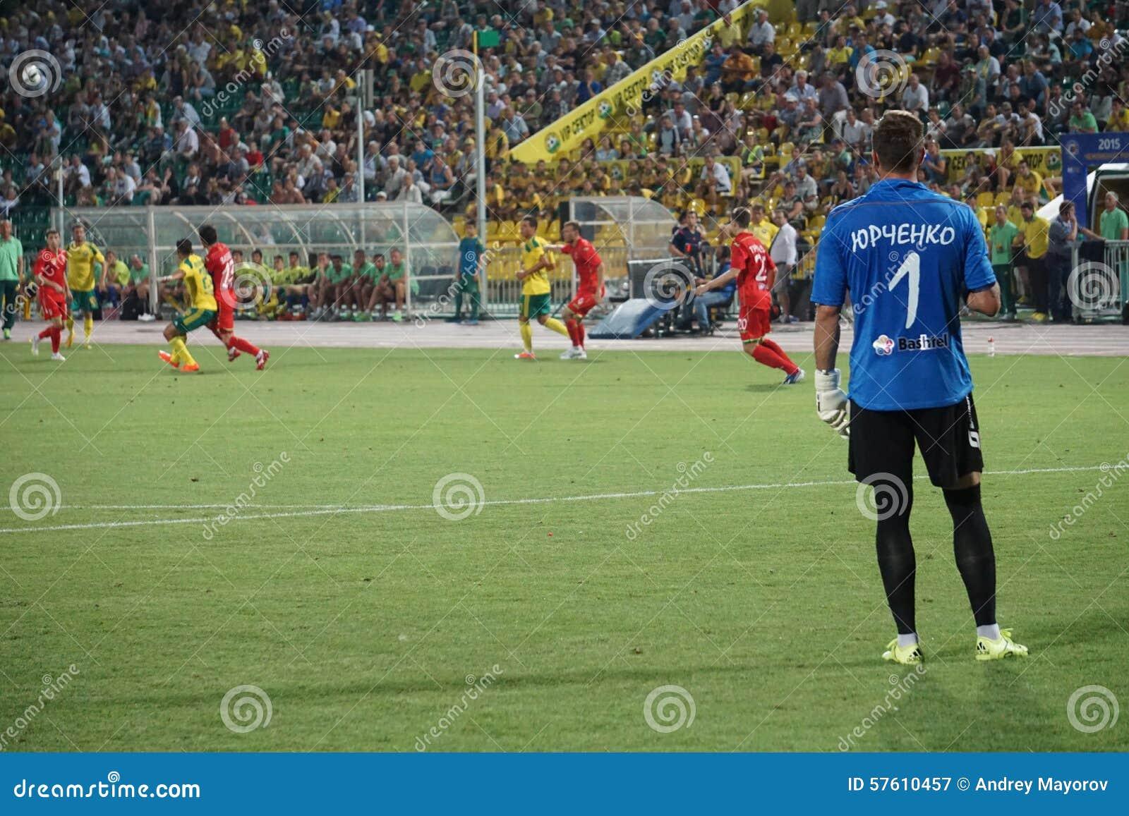 Gardien De But FC Oufa David Yurchenko Observant Le Jeu Photographie ... 65a2dffa959