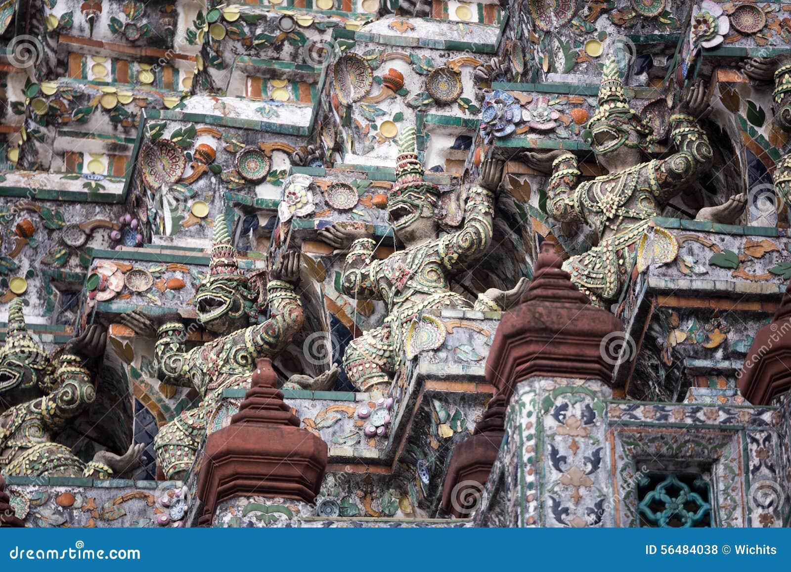 Gardiens géants chez Wat Pho