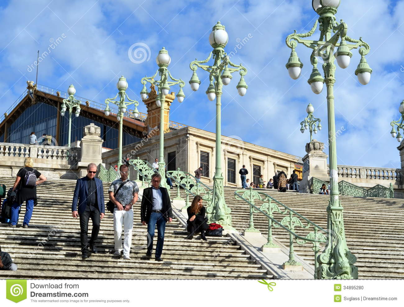 Gare saint charles in marseille france editorial image - Distance gare saint charles port marseille ...