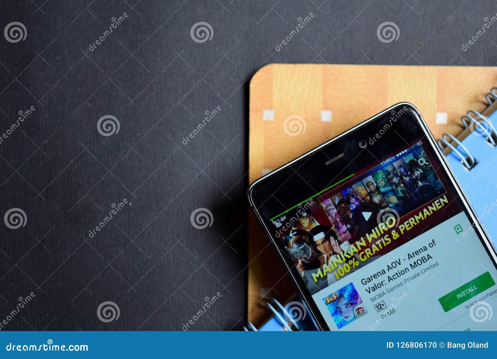 Garena AOV - Arena van Moed: Actie MOBA dev app betreffende Smartphone-het scherm