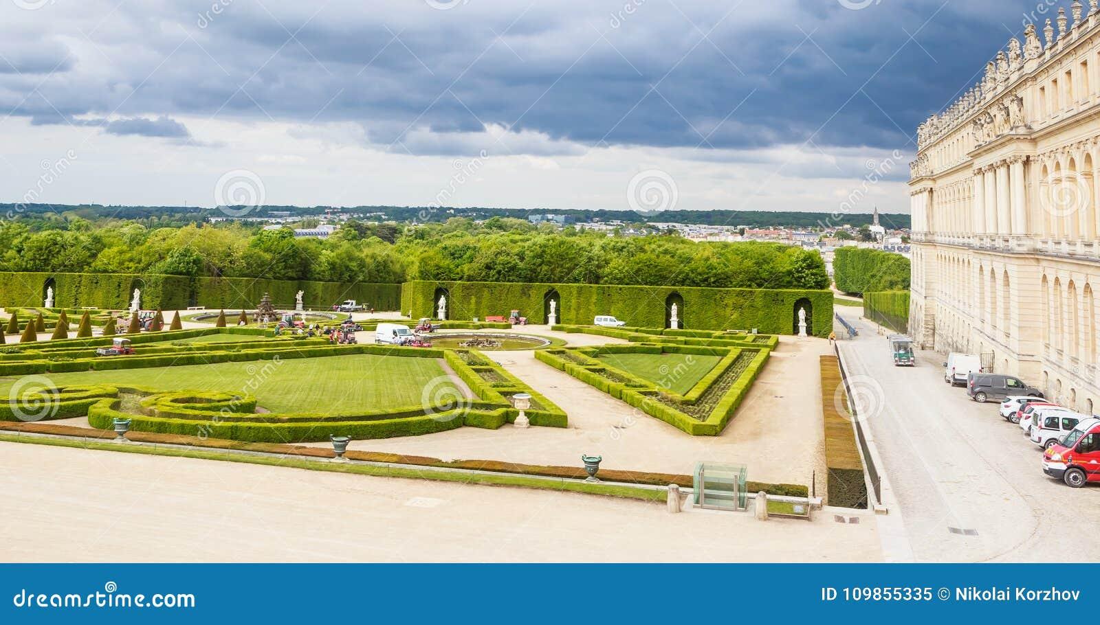 Garez de la fenêtre du palais de Versailles
