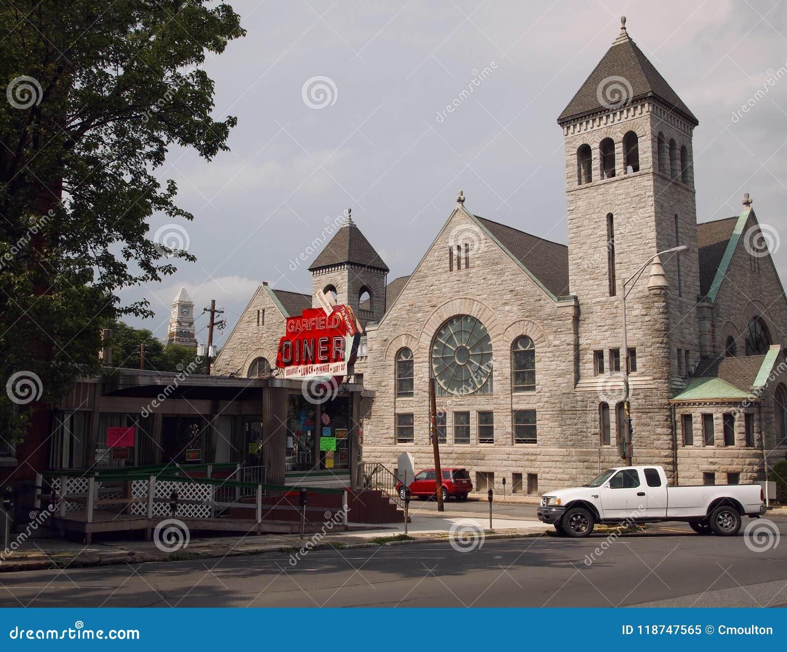 Garfield Diner On Garfield Square Pottsville Pensilvânia