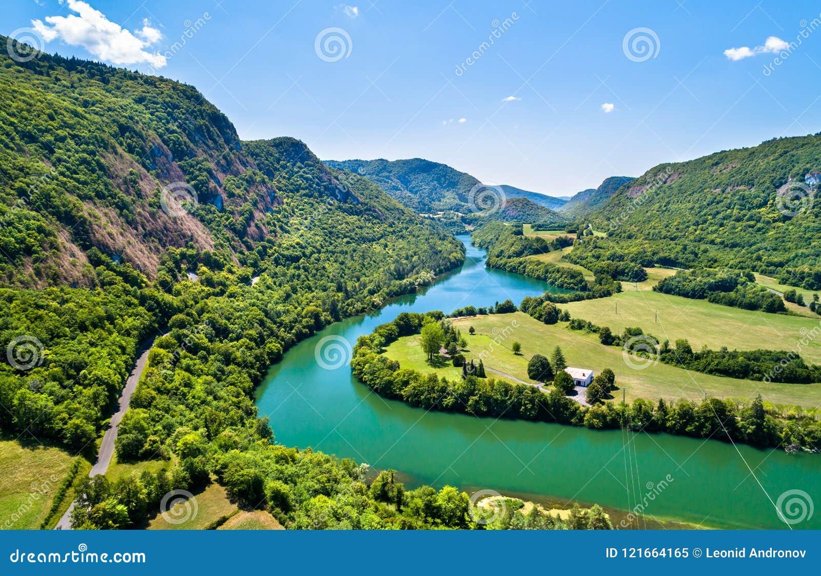 Garganta del río Ain en Francia