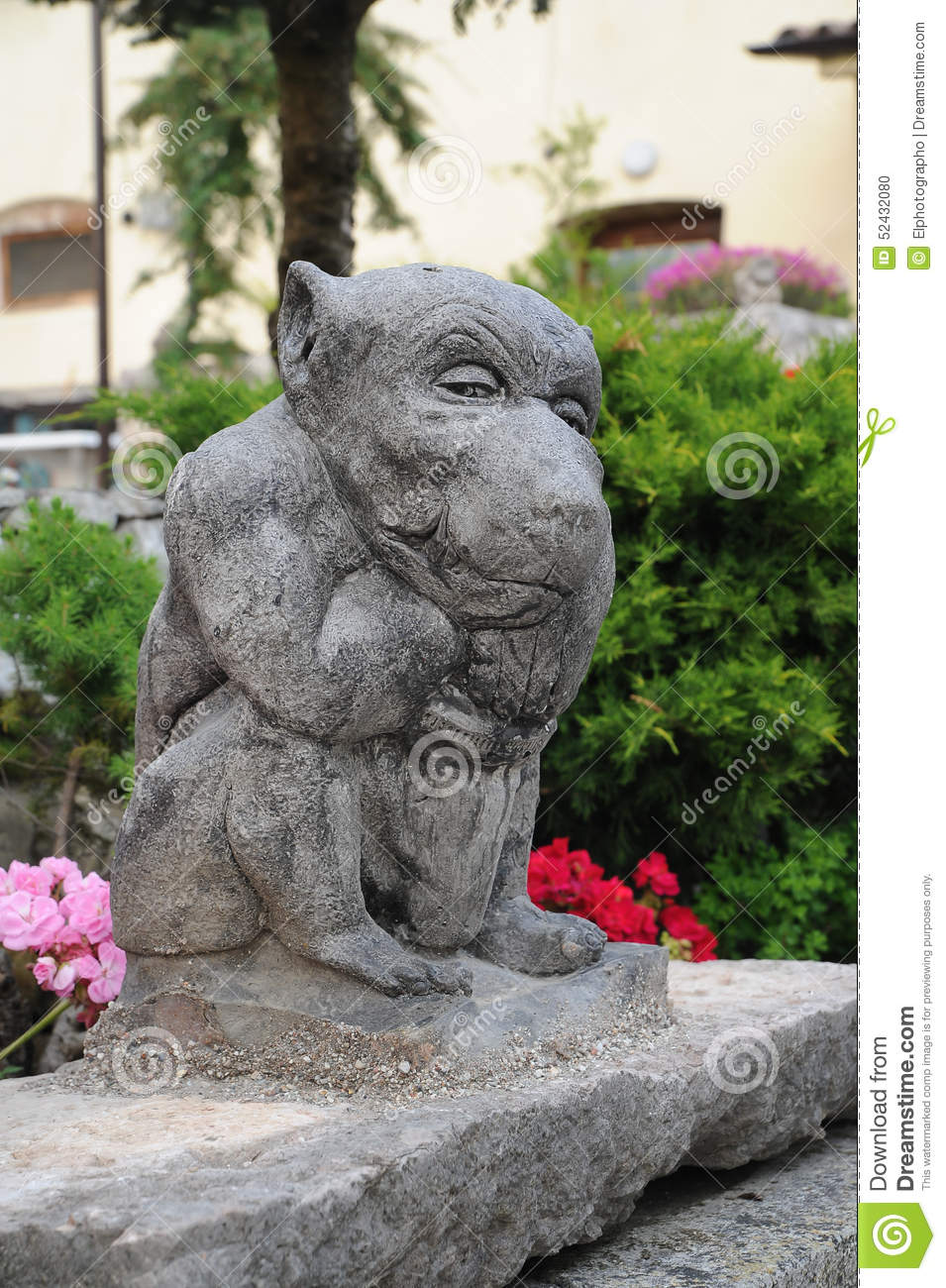 Gargoyle Garden Statue Stock Photo Image 52432080