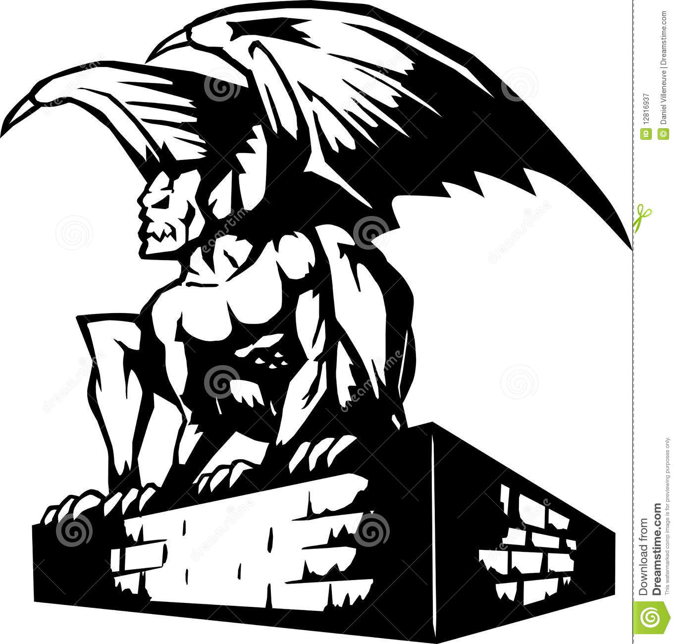 Gargoyle Icon stock vector. Image of demon, evil, guarding ...