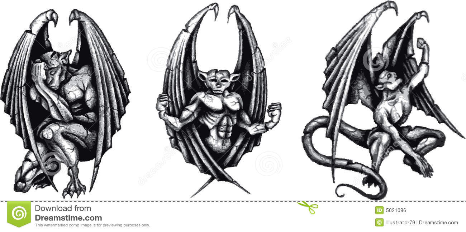 gargoyles stock illustration image of statue tattoo 5021086. Black Bedroom Furniture Sets. Home Design Ideas