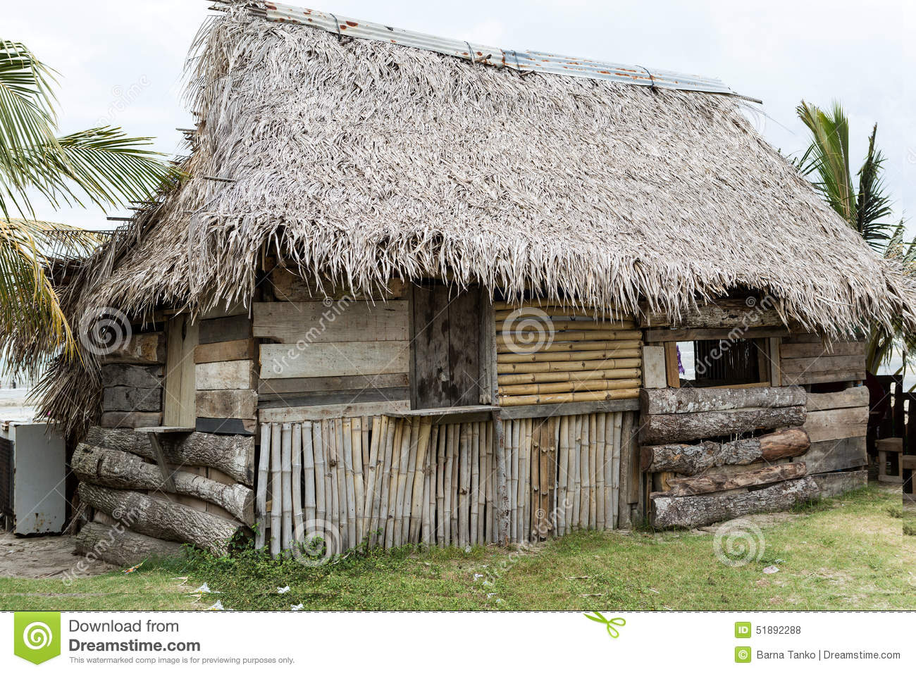 Garifuna house in honduras made of natural materials stock photo image 51892288 - Houses made from natural materials ...