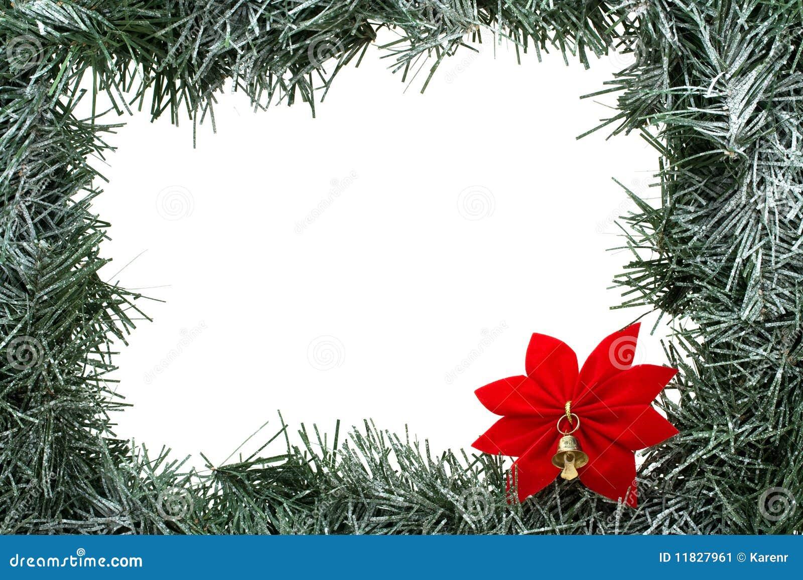 Garland border stock image of copy present merry