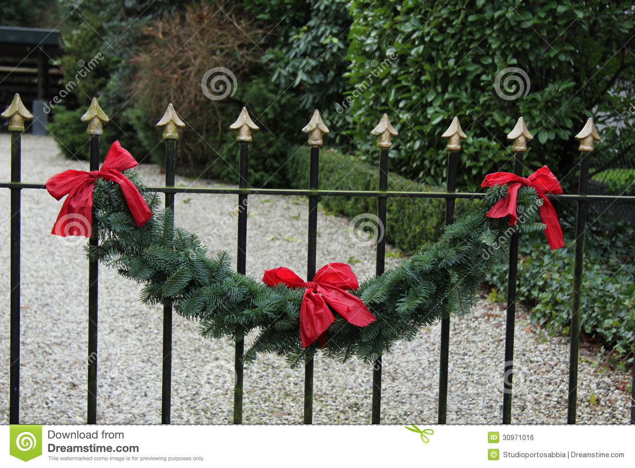 Garland On A Fence Royalty Free Stock Image Image 30971016