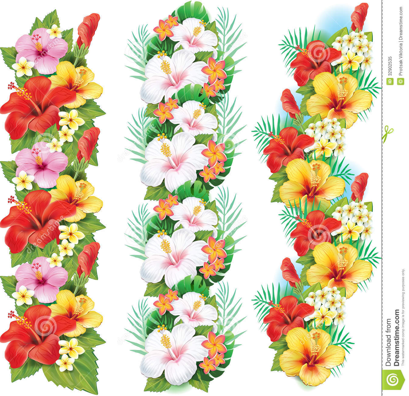 Hawaiian Flower Clip Art Outline - Floral delivery