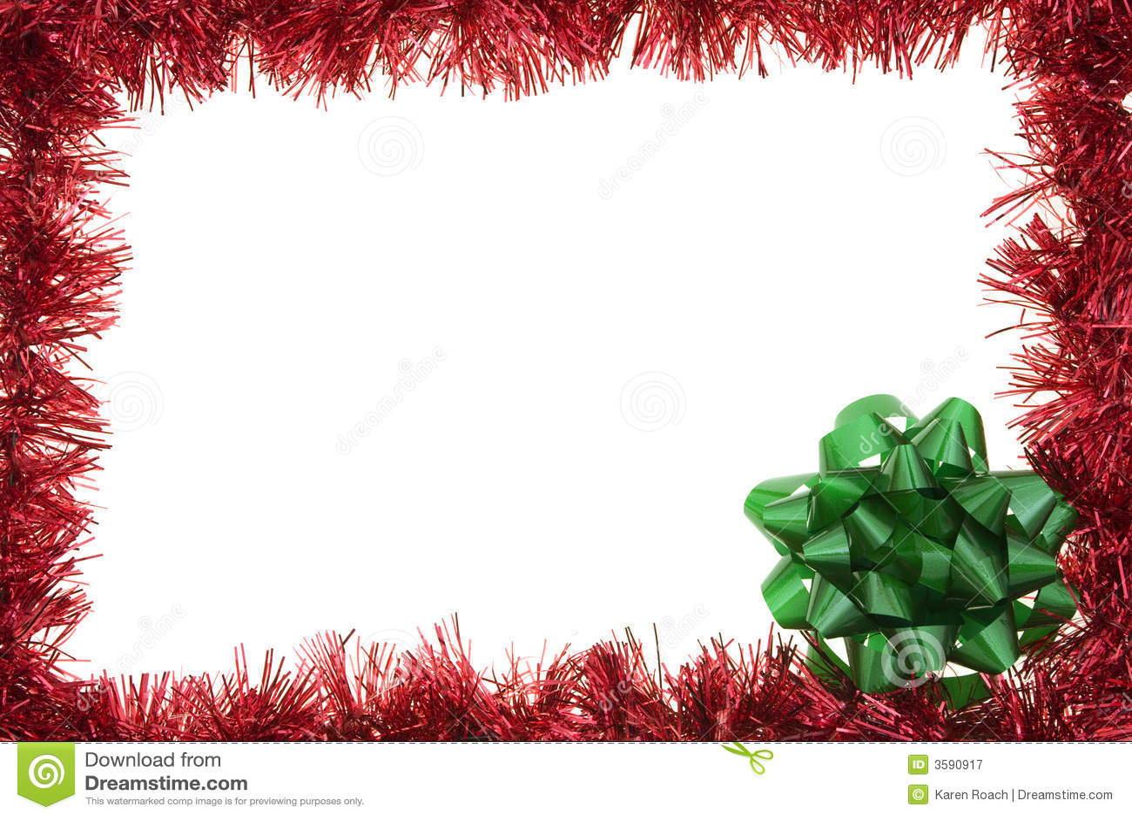 Garland holiday border stock image of december