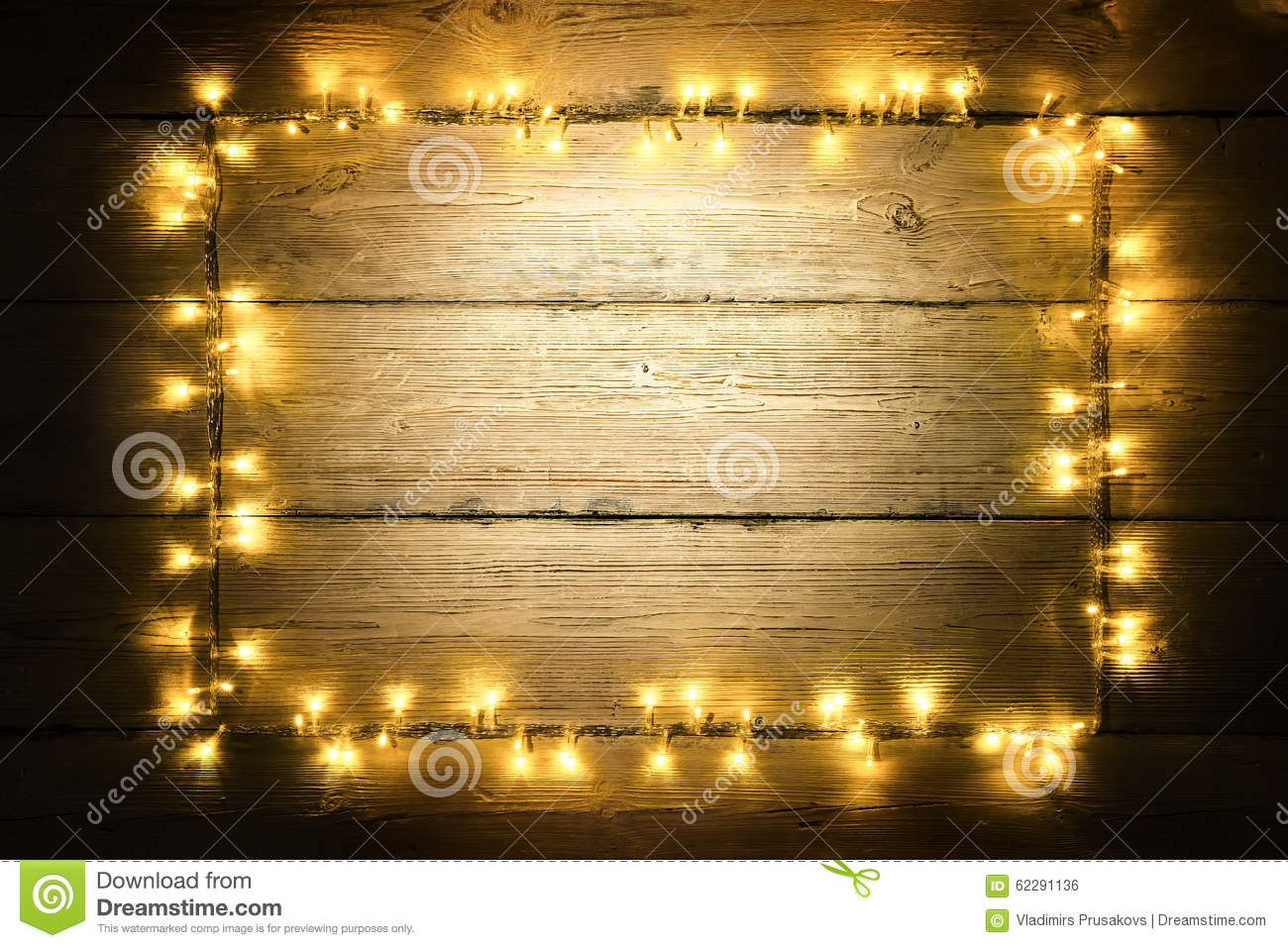 Garland Lights Wood Frame Lighting Wooden Planks Sign