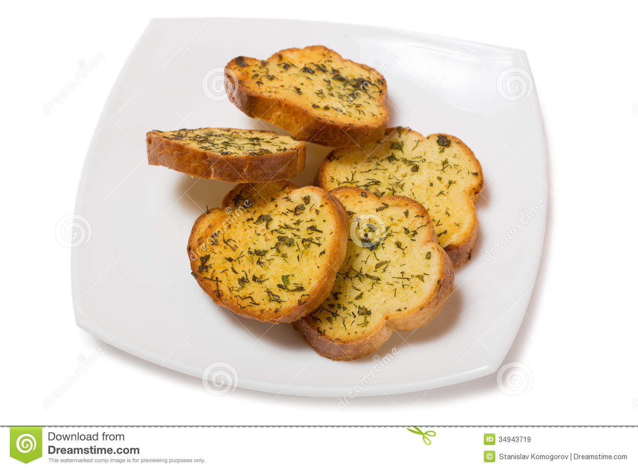 Garlic Croutons Drenched With Herb Butter Royalty Free Stock Images ...