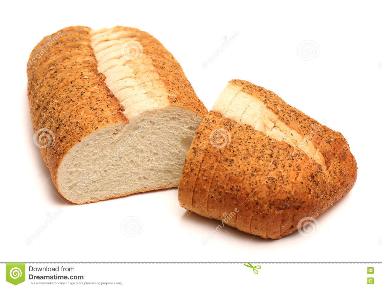 Download Garlic And Herb Artisan White Bread Stock Image