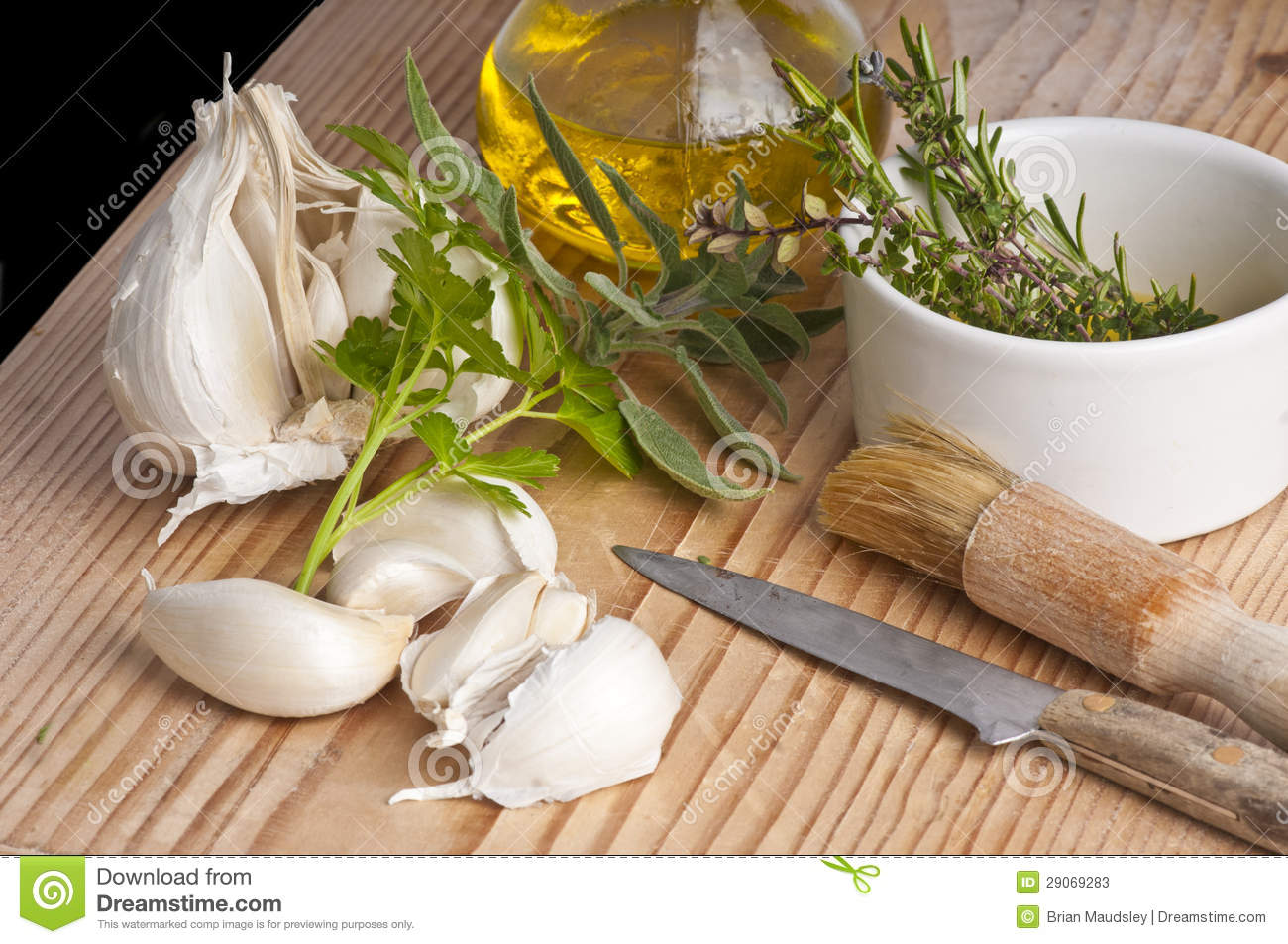 ... , parsley, sage, rosemary and thyme with extra virgen olive oil