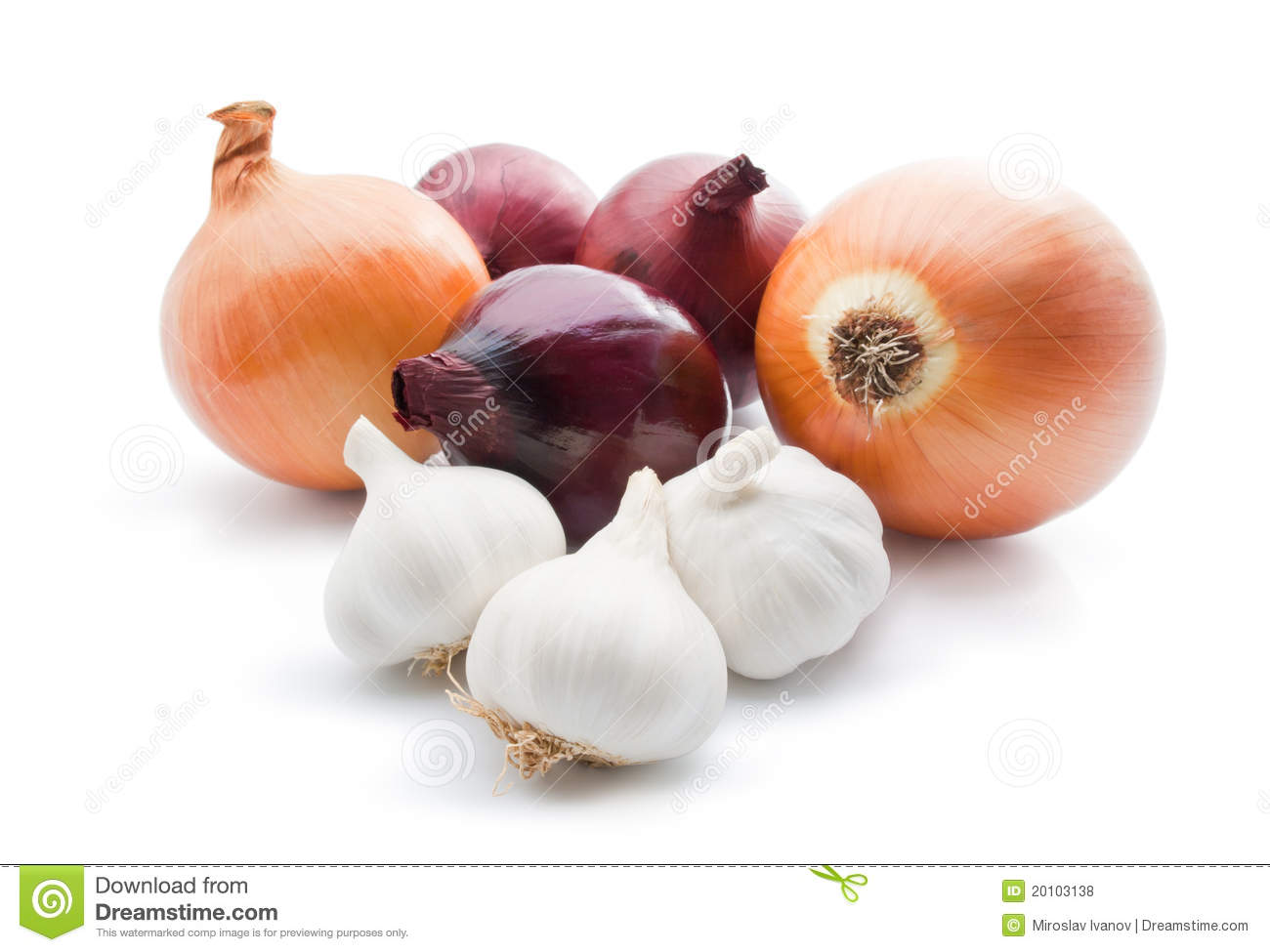 Garlic And Onions Royalty Free Stock Photos Image 20103138