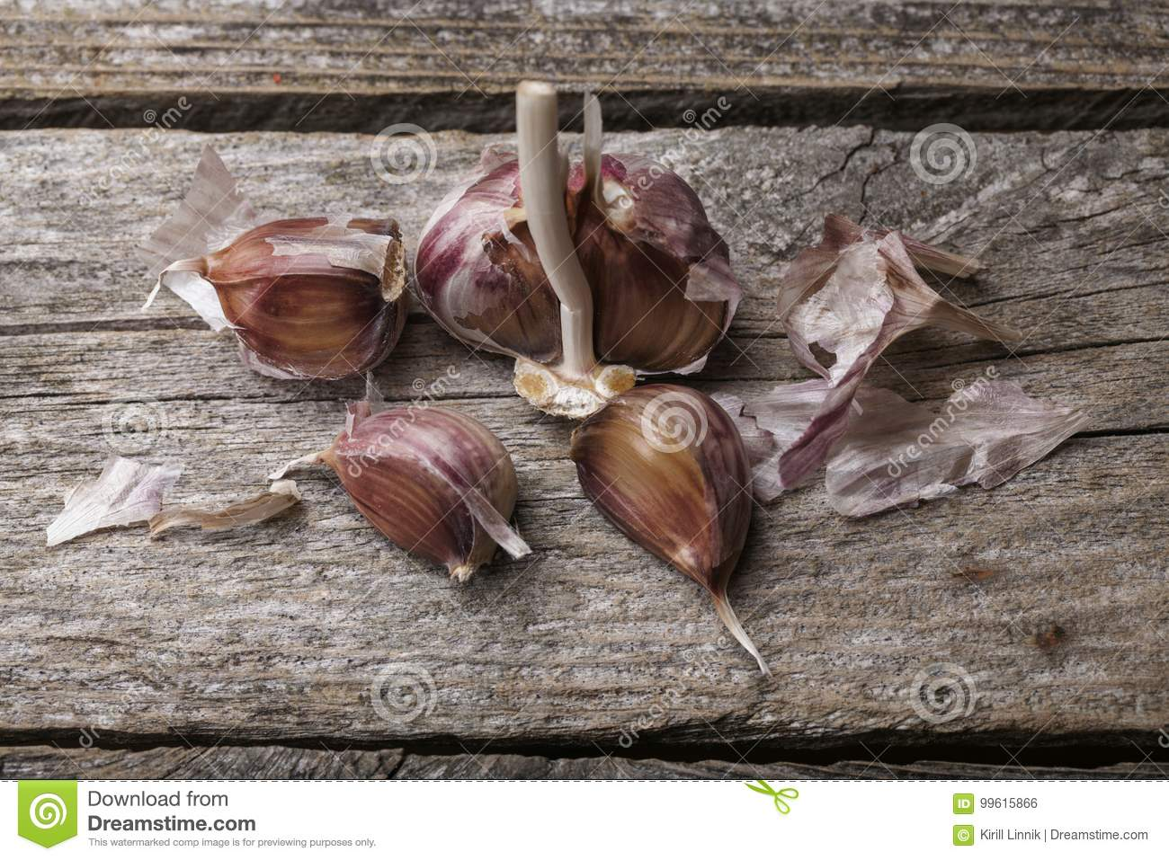 Download Garlic on the table stock photo. Image of health, flavor - 99615866