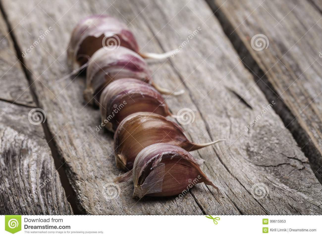 Download Garlic on the table stock image. Image of aroma, clove - 99615953