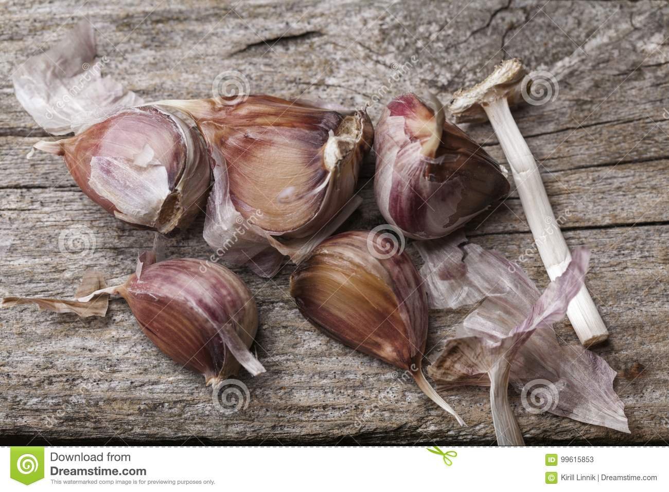 Download Garlic on the table stock image. Image of fresh, background - 99615853