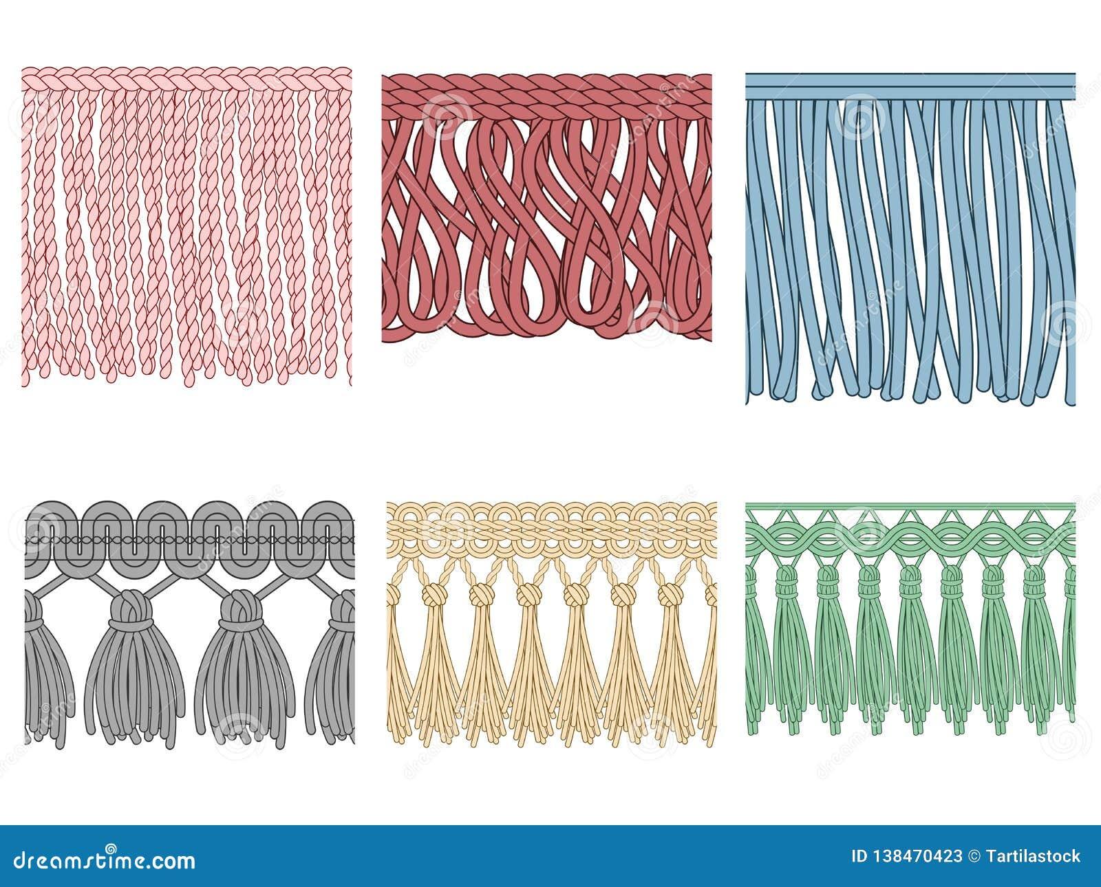 Garment Fringe Ruffle Seam Trim Raw Textile Edge And Tassel Braid