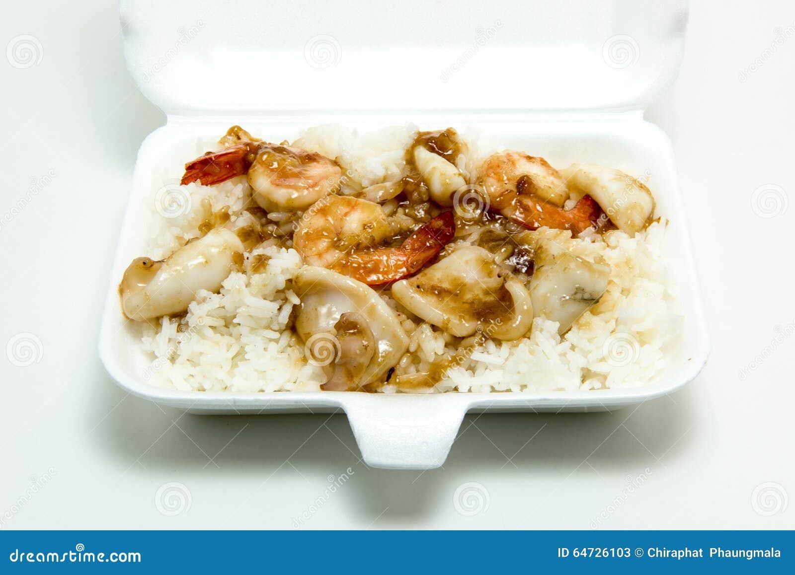 Garnalen/pijlinktvis met knoflook en peper