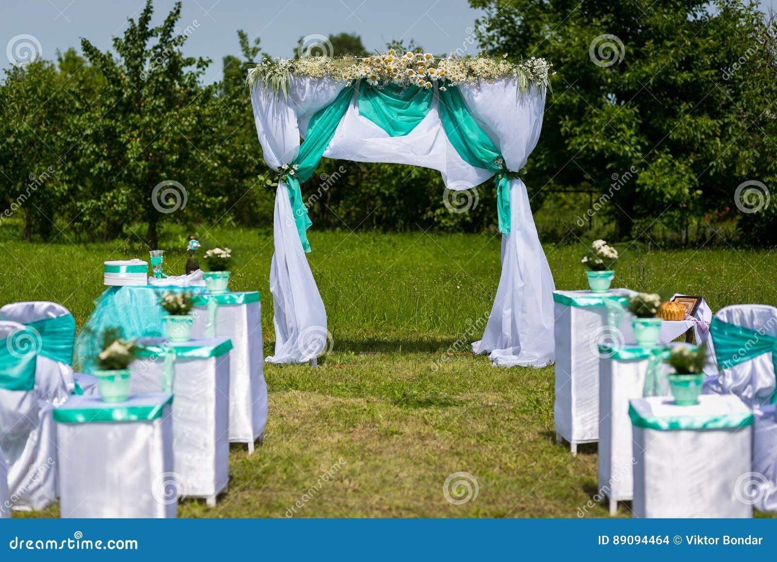 Garnering av en bröllopceremoni En tabell för en bröllopceremoni