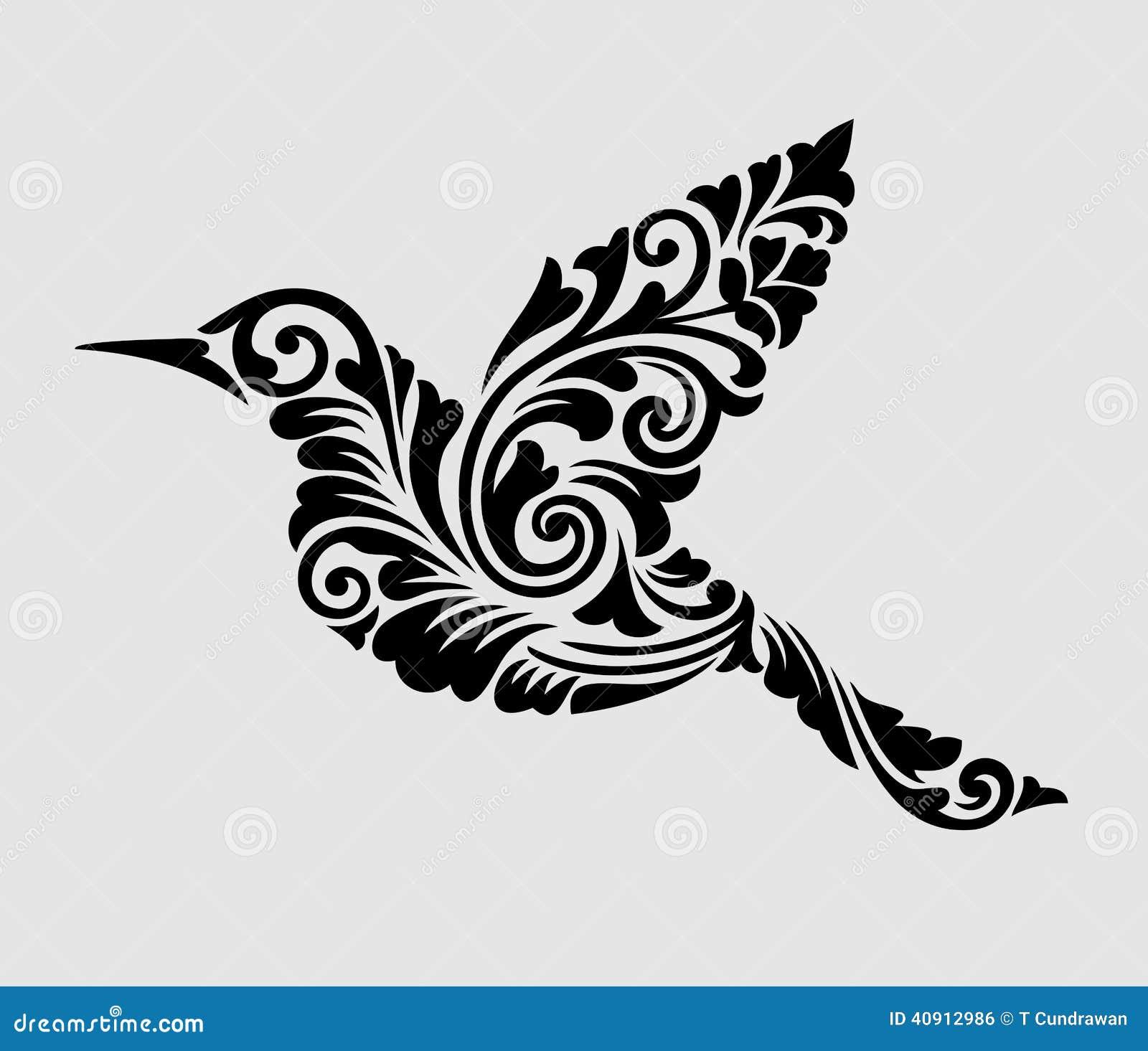 Garnering för blom- prydnad för flygfågel