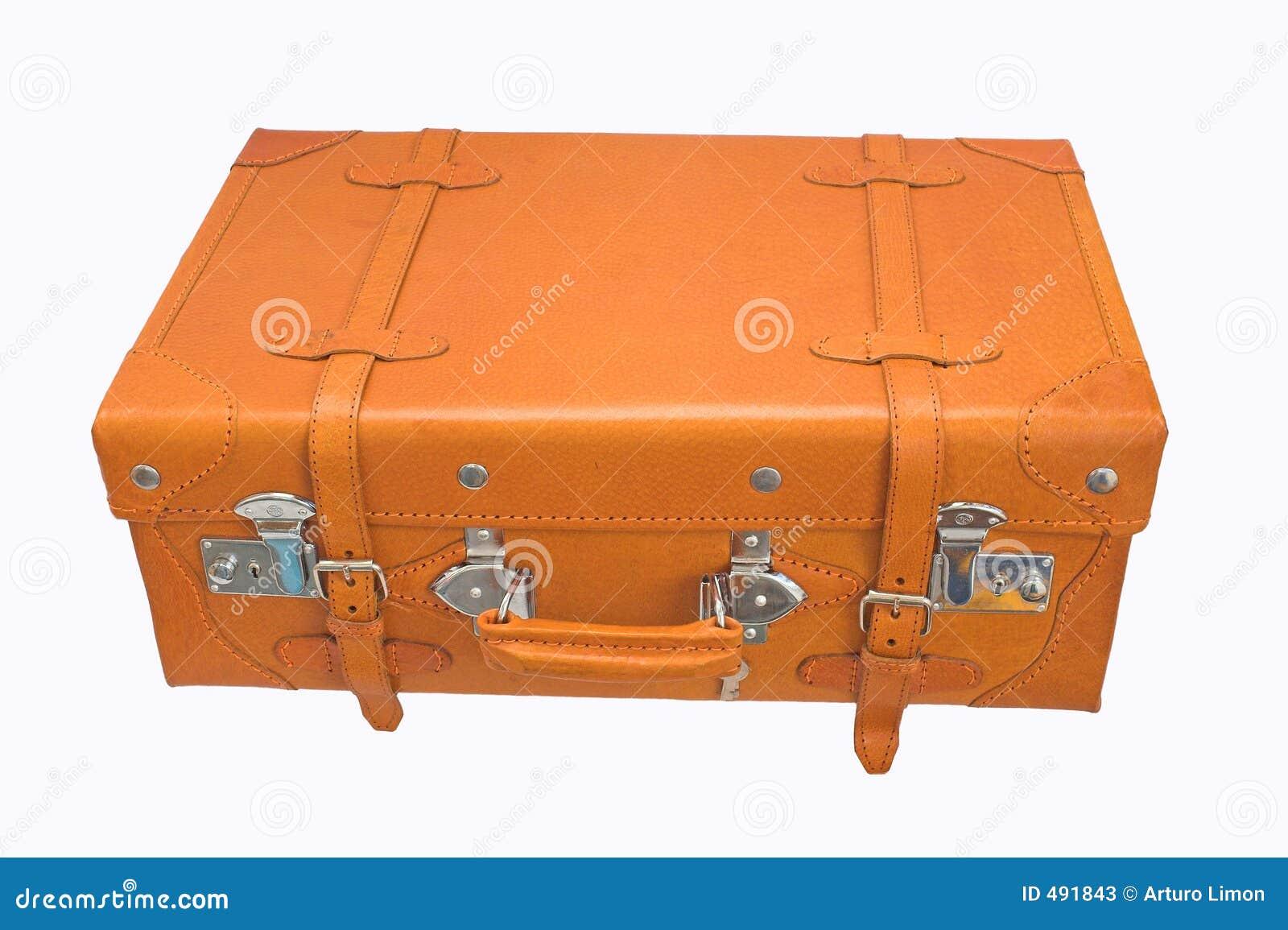 Garnissez en cuir la valise
