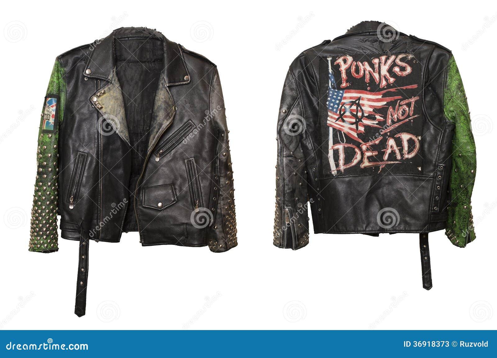 la meilleure attitude 7b492 4747c Garnissez En Cuir La Veste élégante Punk Souterraine Avec ...