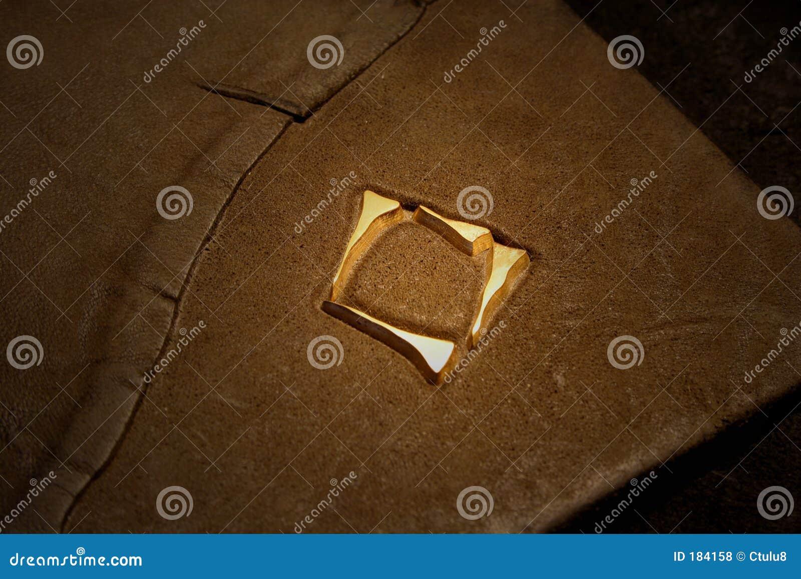 Garnissez en cuir le cache de livre