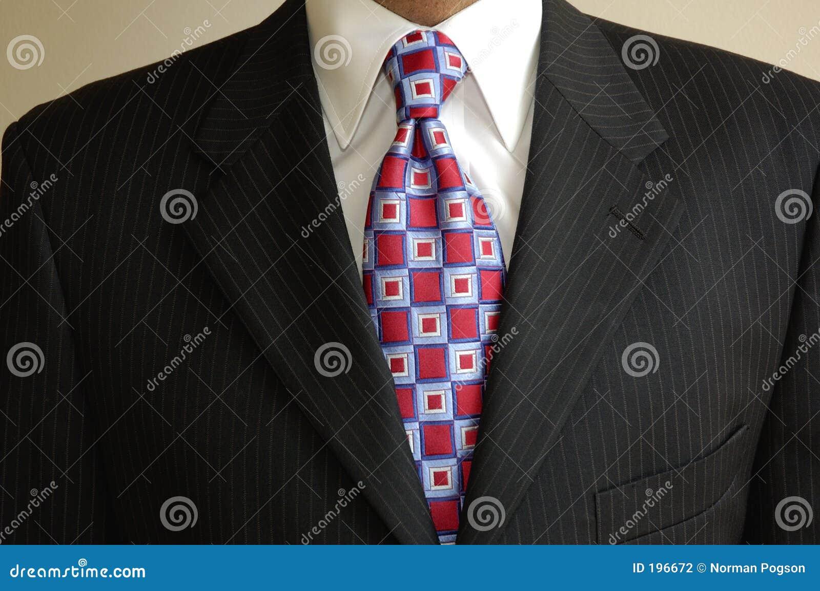 Garnitur krawat biznesmena