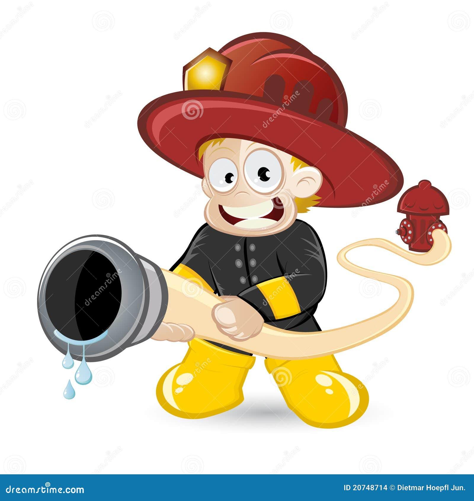 Gar on de pompier de dessin anim images stock image 20748714 - Dessin anime pompier gratuit ...
