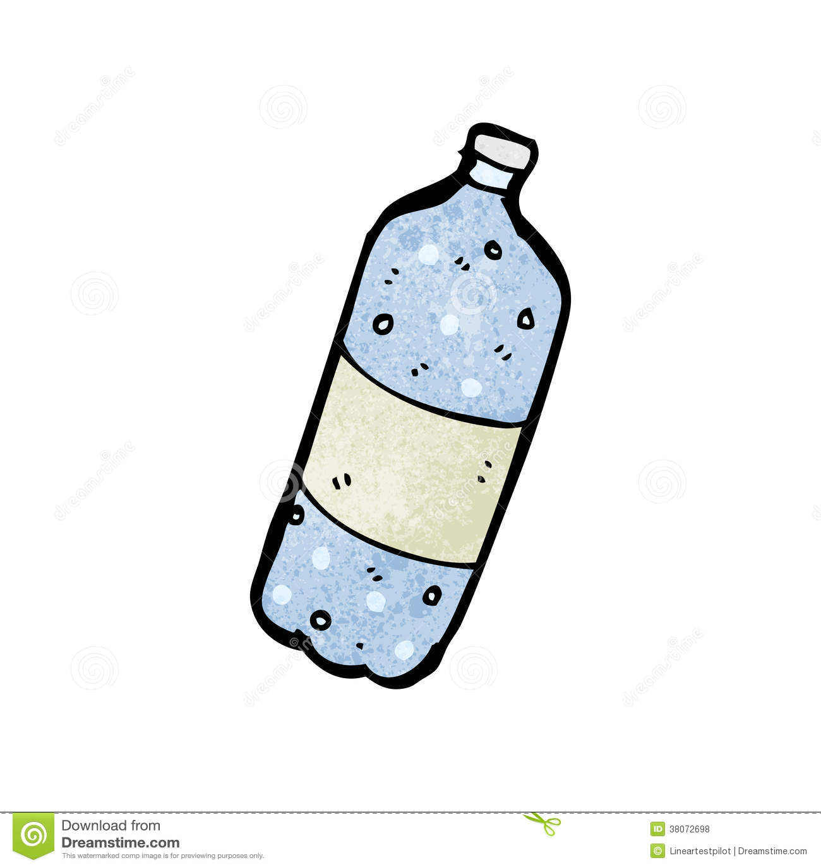 Garrafa De Agua Dos Desenhos Animados Ilustracao Do Vetor