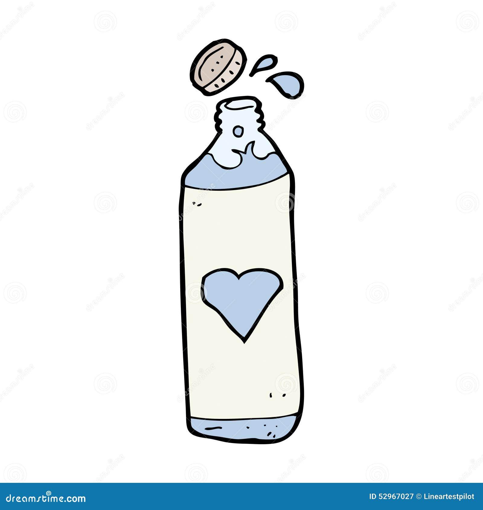 Garrafa De Agua Dos Desenhos Animados Ilustracao Stock