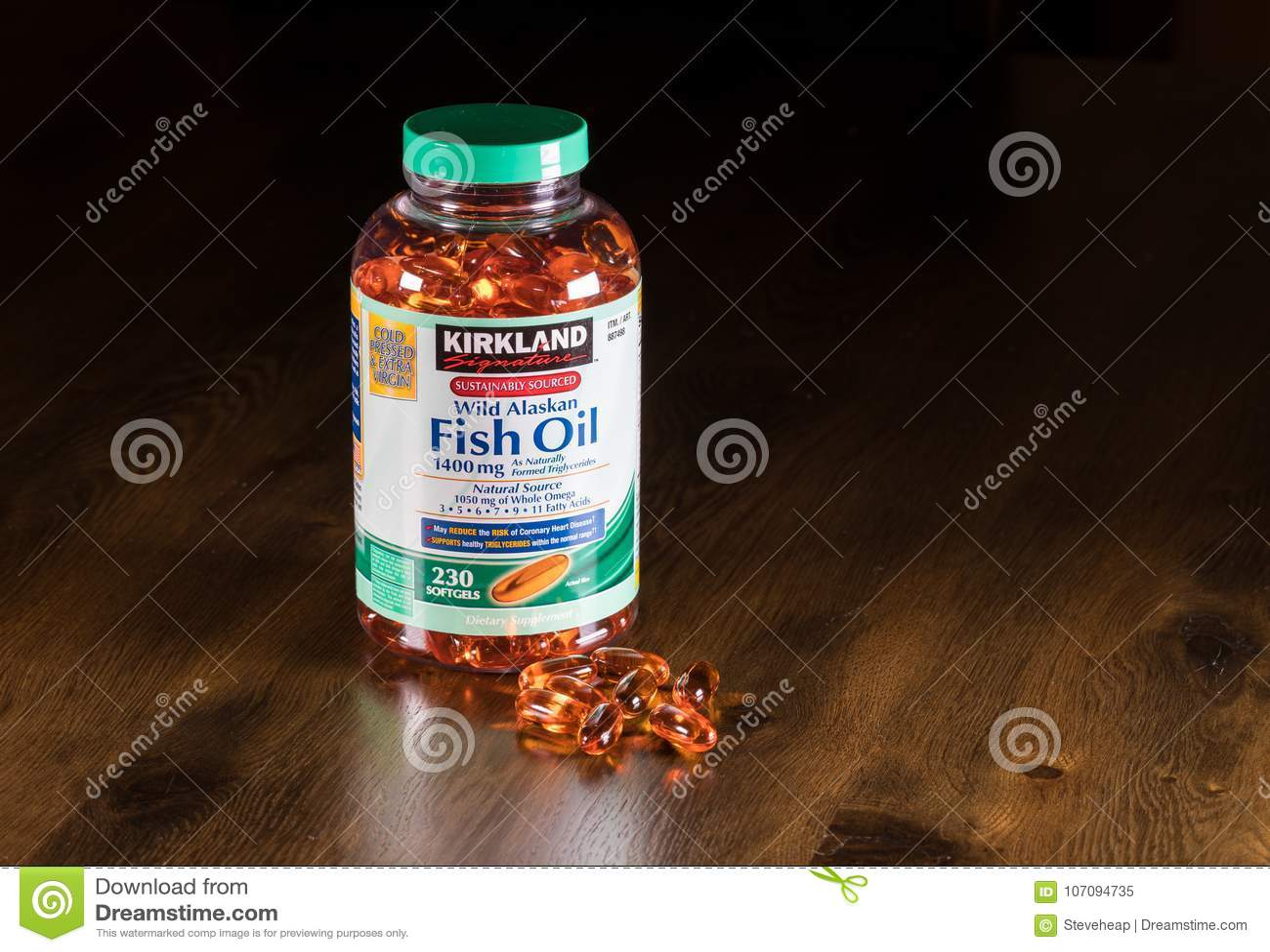 Garrafa de óleo de Kirkland Signature Wild Alaskan Fish