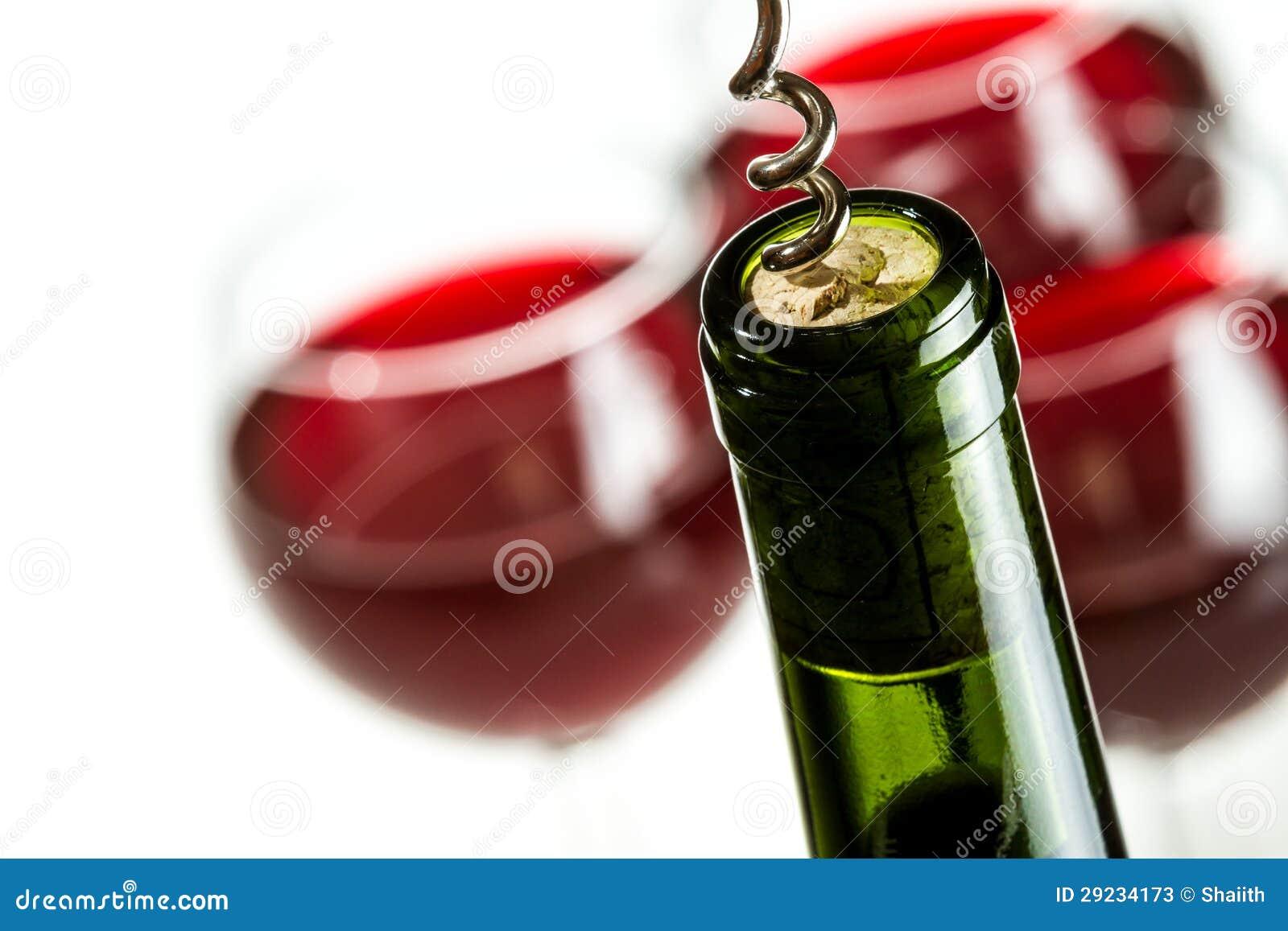 Download Garrafa De Vinho Verde De Abertura Imagem de Stock - Imagem de copo, cópia: 29234173
